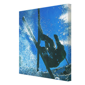 Extreme skiing, canvas print