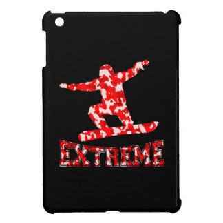 EXTREME Snowboarder 1 RED CAMO iPad Mini Case