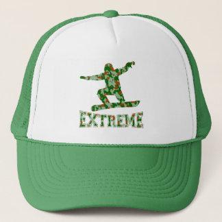 EXTREME snwbrd 1 GREEN BROWN CAMO Trucker Hat