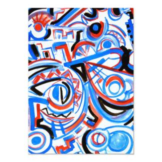 Exuberant Singing - Abstract Art 11 Cm X 16 Cm Invitation Card