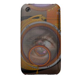 eye as a lens - steampunk variation iPhone 3 Case-Mate cases