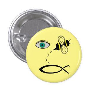 Eye Bee Christian 3 Cm Round Badge