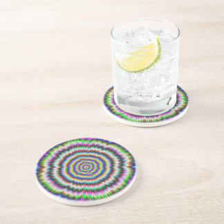 eye boggling psychedelic Coaster