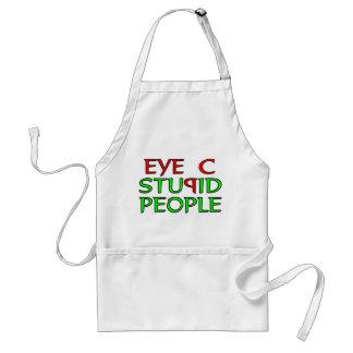 Eye C STUPID People Standard Apron