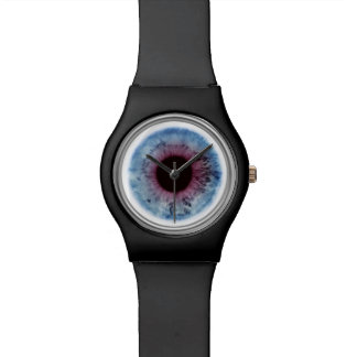 Eye Doctor Blue & Purple Eyeball Iris Black Watch