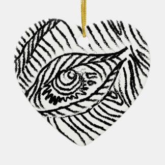 eye , eyelashes , mood, big brother ceramic heart decoration