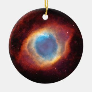 Eye of God Helix Nebula Stars Red Blue Ornament