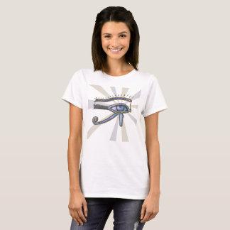 Eye of Horus design for women's V  T shirt. T-Shirt