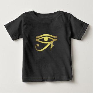 Eye of horus Egyptian symbol black baby shirt