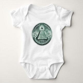 Eye On The Dollar Illuminati Pyramid Baby Bodysuit