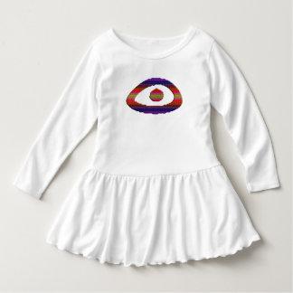 Eye Ruffle Dress