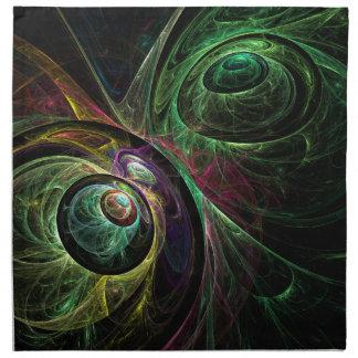 Eye to Eye Abstract Art Napkin