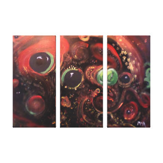 Eyes of the Universe # 5  3 Panel Canvas Canvas Print
