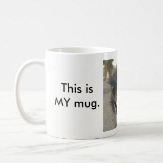 """""""Eyes off""""  Emu mug"""