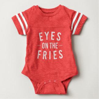 Eyes on the Fries Football Baby Tee
