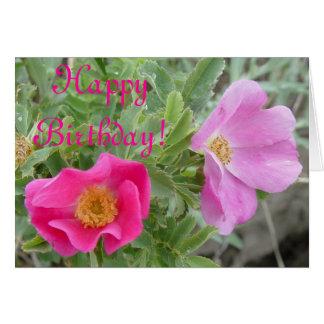 F0004 Wild Roses Card
