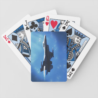 F16 Fight Falcon Supersonic Take Off Bicycle Playing Cards