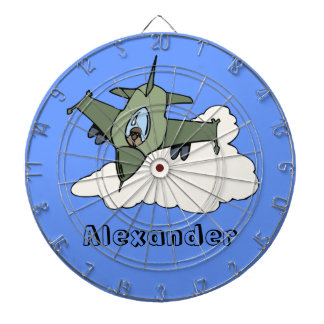 F16 Fighting Falcon Fighter Jet In Flight Dartboard With Darts