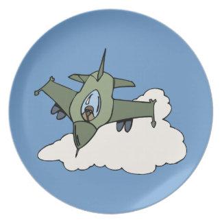F16 Fighting Falcon Fighter Jet In Flight Plate