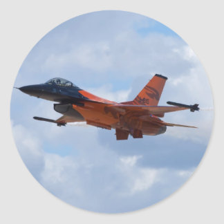 F16 Fighting Falcon Round Sticker