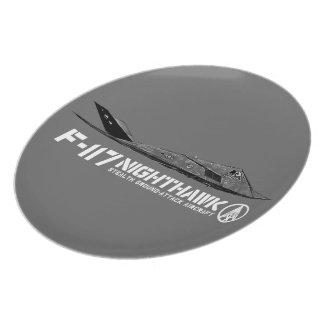 F-117 Nighthawk Melamine Plate