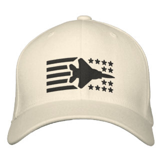 F-15 Fighter Jet Stars and Stripes Embroidered Baseball Caps