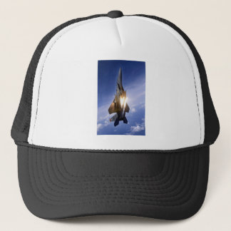 f-15 jet launching missile trucker hat
