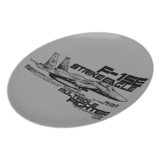 F-15E Strike Eagle  Melamine Plate