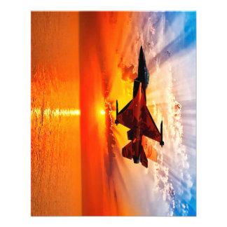 F-16 Fighting Falcon 11.5 Cm X 14 Cm Flyer