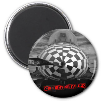 F-16 Fighting Falcon 6 Cm Round Magnet