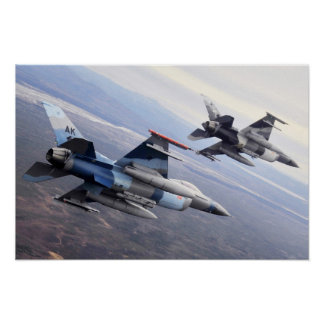 "F-16 Fighting Falcon ""Aggressors"" Poster"