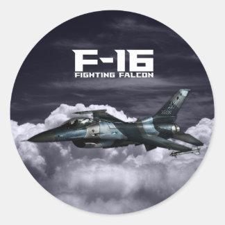 F-16 Fighting Falcon Classic Round Sticker
