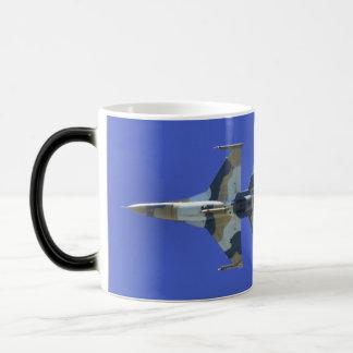 F-16 Fighting Falcon Electric Jet Bingo Fuel Morphing Mug