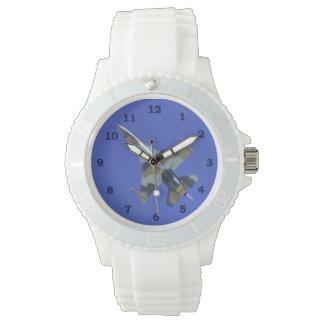 F-16 Fighting Falcon Electric Jet Bucket List Wrist Watches