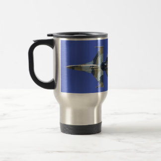 F-16 Fighting Falcon Electric Jet GO JUICE Stainless Steel Travel Mug