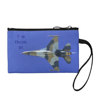 F-16 Fighting Falcon Electric Jet Military Coin Wallets