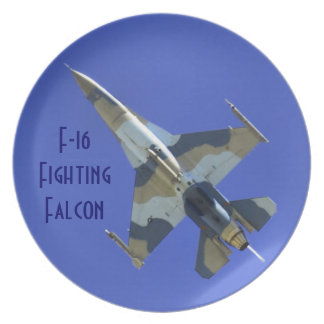 F-16 Fighting Falcon Electric Jet or Dedication Plate