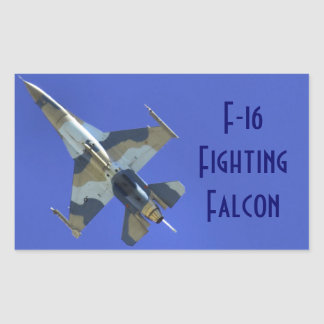 F-16 Fighting Falcon Electric Jet Your Text Rectangular Sticker