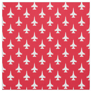 F-16 Fighting Falcon Fighter Jet Pattern White Fabric