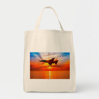 F-16 Fighting Falcon Grocery Tote Bag