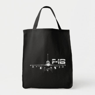 F-16 Fighting Falcon Grocery Tote Grocery Tote Bag