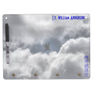 F-16 Fighting Falcon in the Cloudy Sky Dry Erase Board