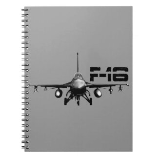 F-16 Fighting Falcon Photo Notebook (80 Pages B&W)