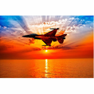 F-16 Fighting Falcon Photo Sculpture Key Ring