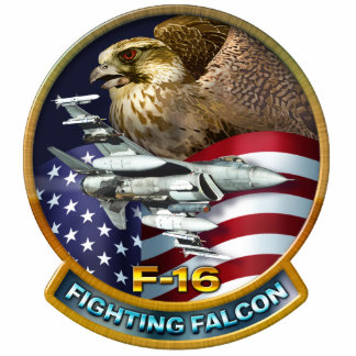 F-16 Fighting Falcon Photo Sculpture Magnet