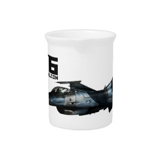 F-16 Fighting Falcon Drink Pitcher
