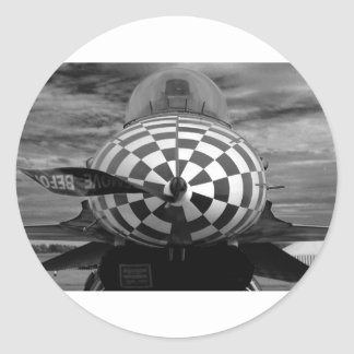 F-16 Fighting Falcon Round Sticker