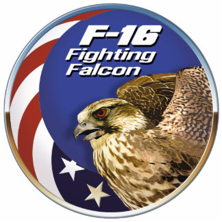 F-16 Fighting Falcon Standing Photo Sculpture