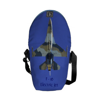 F-16 Fighting Falcon Your Name Electric Jet Messenger Bag