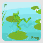 F for frog Sticker